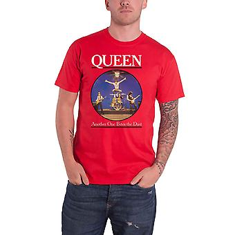 Queen T Shirt Another One Bites The Dust Band Logo new Official Mens Red