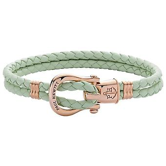 Paul Hewitt PH-FSH-L-R-M-M Bracelet - PINK IP Steel PHINITY SHACKLE Leather Mint Women