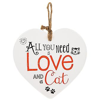 Shudehill Giftware From The Heart Plaque - Cat
