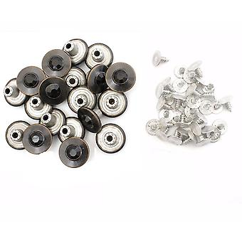 17mm Black Rhinestone Antique Jeans Buttons with Pins