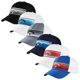 Callaway Golf Mens 2020 Stripe Mesh Adjustable Breathable Snapback Comfort Cap