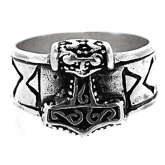 """Ring """"thorshammer"""", gr. 52-80 (thsi1)-hopea"""