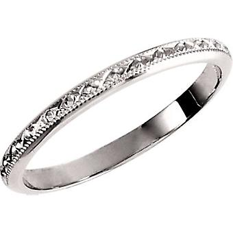 14k White Gold Size 5 Band Ring Jewelry Gifts for Women - 1.5 Grams