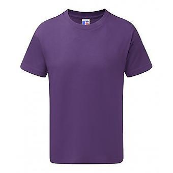 Russell para crianças/crianças Slim t-shirt manga curta