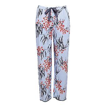 Cyberjammies 4389 Mujeres'Olivia Azul Floral Impresión Algodón Pyjama Pantalón