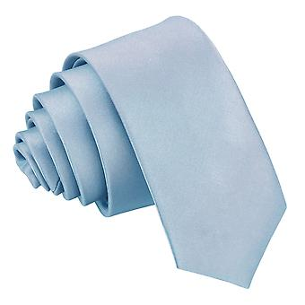 Dusty Blue Plain Satin Skinny Tie