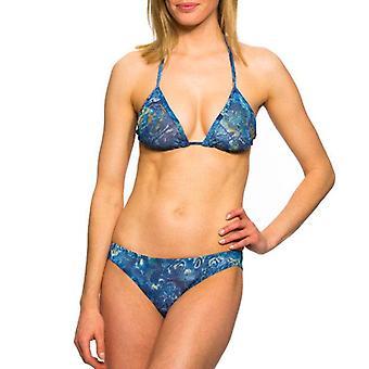 Azure tan through bikini top & brief set