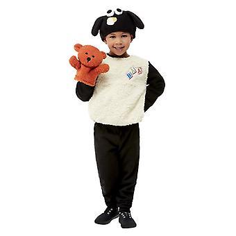 Småbarn Shaun sauene Timmy Fancy Kjole Kostyme