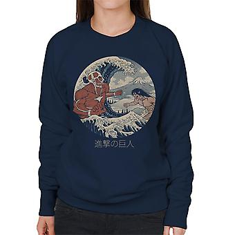 The Great Titans Attack On Titan The Great Wave Women's Sweatshirt