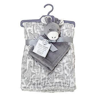 Snuggle Baby Babies Blanket With Donkey Comforter