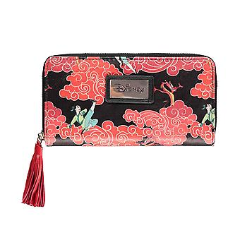 Mulan Purse Dragons all over print new Official Disney Ladies Zip Around
