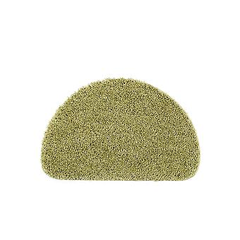 Buddy Washable Half Moon Rugs In Olive