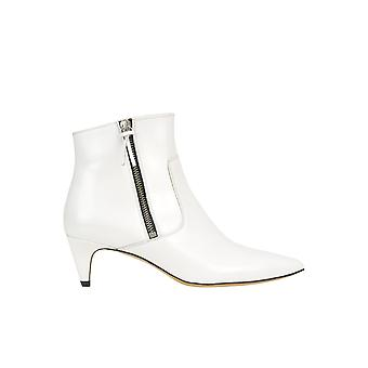 Isabel Marant Ezgl287018 Women's White Leather Ankle Boots