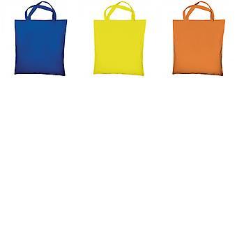 "Jassz Bags ""Cedar"" Cotton Short Handle Shopping Bag / Tote (Pack of 2)"