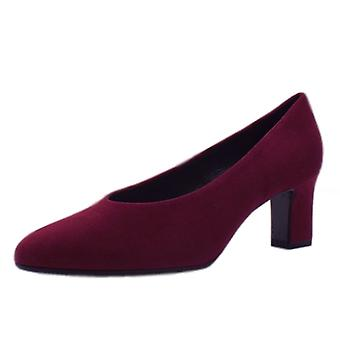 Peter Kaiser Mahirella Classic Mid Heel Court Shoes In Jam Suede