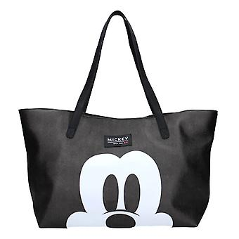 Disney Mickey Mouse Forever Famous Black Shopping Bag