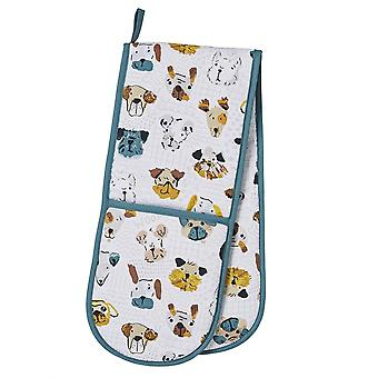Kitchen Accessories Mutley Dog Apron, Double Oven Glove, Mitt , Tea Towel & Reusable Shopping Bag