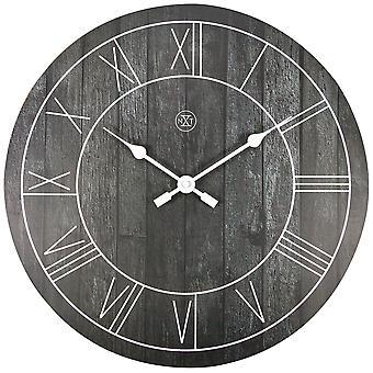 nXt- Wall clock - Ø 40 cm - Wood - Black - 'Paul'
