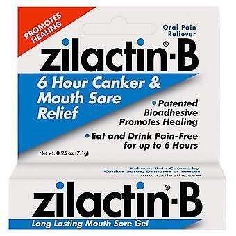 Zilactin-b suun kipeä geeli, 0,25 oz