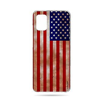 Hull For Samsung Galaxy A71 Flexible American Flag