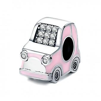 Sterling Silver Charm Pink Car - 6412