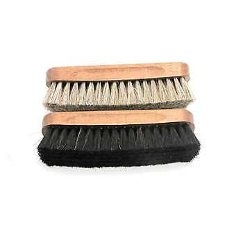 Paardenhaar Buffing Brushes - double pack Medium Natural and Black