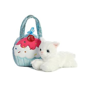Aurora World Fancy Pals Pet Carrier Sweets Cupcake & Kitty Plush