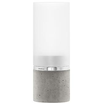 Blomus windlight FARO concrete combined with stainless steel matt and glass