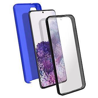 Silicone case + back cover in polycarbonate for Samsung Galaxy S20 - Blue
