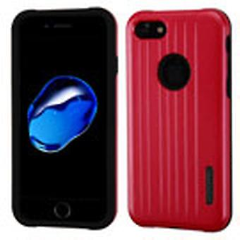 Asmyna Carry-On Hybrid Protector Case for Apple iPhone SE2/8/7 - Red/Black