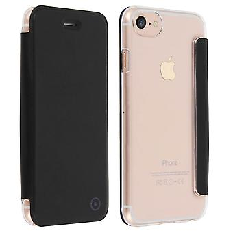 Muvit slim case, flip cover crystal case for Apple iPhone 7, iPhone 8 – Black