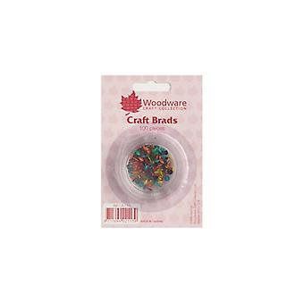 Woodware Mini Craft Brads – Primary Colours – 100 Pieces