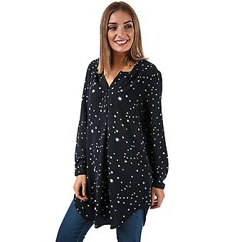 Women's Only Nova Lux Star Print Tunic Shirt in Blue