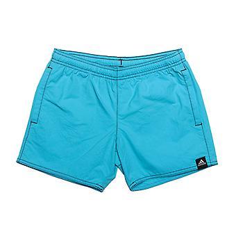 Boy's adidas Junior Solid Shorts in blu