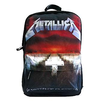 Metallica Backpack Bag Master Of Puppets Band Logo new Official Black