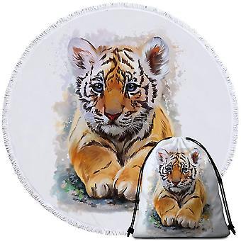 Maalattu tiikeri pentu ranta pyyhe