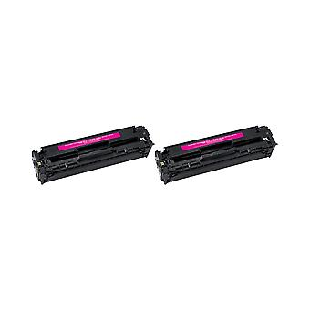 RudyTwos 2x Replacement for HP 125A Toner Unit Magenta Compatible with Colour Laserjet CM1312, CM1312n, CM1312nf, CM1312nfi, CM1312nfi MFP, CP1210, CP1213, CP1214, CP1514n, CP1215, CP1215n, CP1216, CP