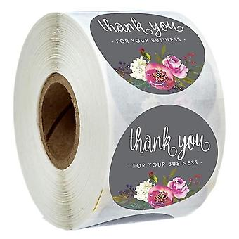 500pcs Dziękuję za wspieranie mojej firmy - Naklejki Kraft ze złotą folią okrągłe etykiety naklejki