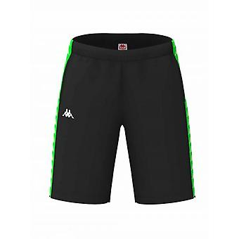 Kappa Black & Green Banda Shorts