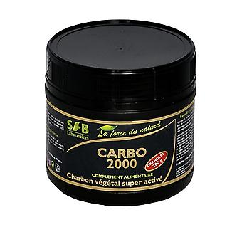 Carbo 2000, super activated granular vegetable charcoal 200 g
