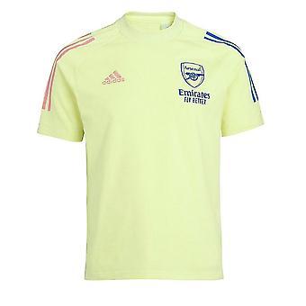 2020-2021 Arsenal Adidas Training Tee (Yellow) - Kids