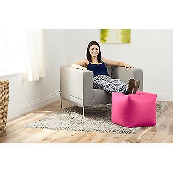 Hippo rosa Kunstleder Bean Bag Cube Hocker Pouffe Sitz