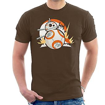 Star Wars BB8 Fighter Chase Men's T-Shirt