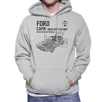 Haynes Owners Workshop Manual 0283 Ford Capri Mk12 Black Men's Hooded Sweatshirt