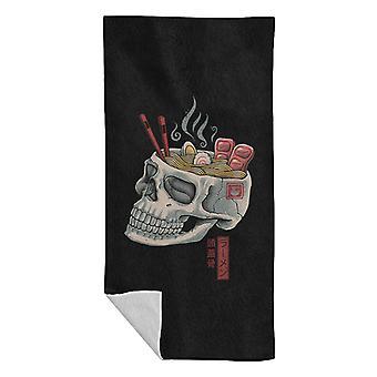 Ramen Skull Beach Towel