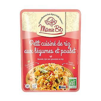 الأرز المطبوخ مع الدجاج والخضروات الصغيرة 220 غ