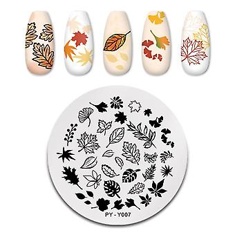 Flower Nail Stamping Plates Leaf Stamp Templates Geometric Printing Diy Design Stencil Tools Nail Art Image Plate