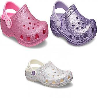 Crocs Kinder/Kinder klassische Glitter Slip auf Clog