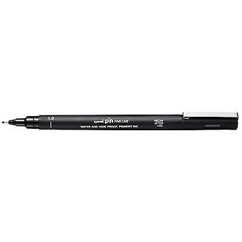 Uni Pin Fine Line Pen, Black, 1.0