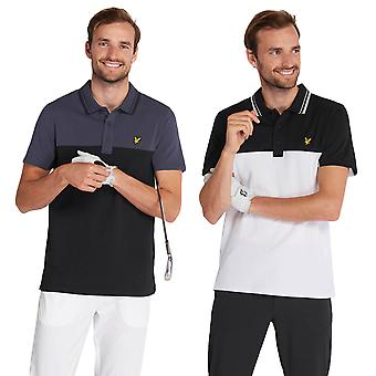 Lyle & Scott Mens Kendall Kosteus Wixking Stretch Golf Poolopaita